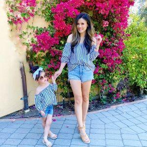 Striped Mommy & Me Set